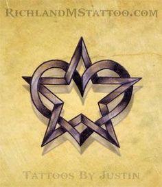 star heart tattoo design by jacksonmstattoo on DeviantArt