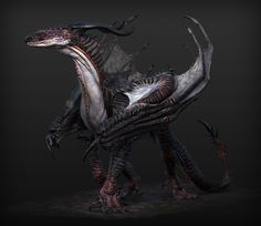 Hansol bae 2 m Hansol bae 2 main a 1023 西瓜通过花瓣Chrome扩展采集到cg 怪物 Alien Creatures, Fantasy Creatures, Mythical Creatures, Creature Concept Art, Creature Design, 3d Mode, Dragon Artwork, Black Dragon, Monster Art