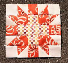 star crossed block tutorial...would love to do this on a large scale for a wall hanging