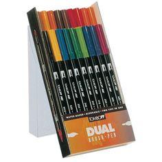 Tombow Dual Brush Pen ABT - plastieken doos - assortiment van duo markers - Schleiper Tombow Dual Brush Pen, Markers, Sharpies, Marker, Sharpie Markers