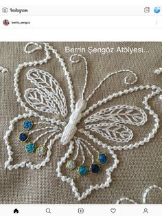 how to do brazilian embroidery stitches Crewel Embroidery Kits, Butterfly Embroidery, Embroidery Transfers, Silk Ribbon Embroidery, Hand Embroidery Patterns, Vintage Embroidery, Machine Embroidery, Embroidery Supplies, Embroidery Thread