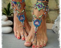 Sol signo de la paz de loto sandalias Descalzas paz por GPyoga