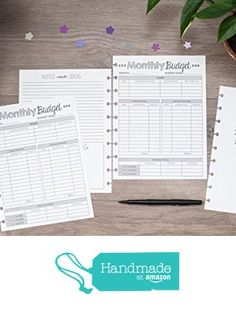 Monthly Budget Forms for the Happy Planner 5d71b2e781a