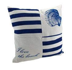 Navy and White Canvas Beach Themed Throw Pillow 15 in. Things2Die4 http://www.amazon.com/dp/B00A427R0A/ref=cm_sw_r_pi_dp_y7zXtb0BFGK8X7G2