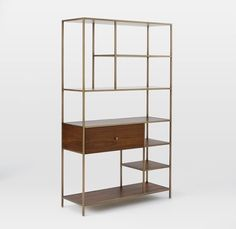 Nook Wide Storage #Shelves   mid-century-modern-habituallychic-019   #bookcase #midcentury