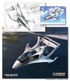 Concept and aesthetic study for 4 seater Gyrocopter