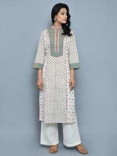 Size Chart - These are garment measurements. Length of the Kurta is S - Chest : Waist : Shoulder Sleeve Length : M - Chest : Wa Kurta Designs Women, Kurti Neck Designs, Salwar Designs, Blouse Designs, Pakistani Designer Suits, Indian Designer Outfits, Designer Dresses, Drape Dress Pattern, New Style Suits