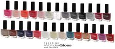 Prestige Cosmetics Wonder Gloss Nail Lacquer Collection3.95 each