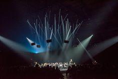 Urs Schönebaum, Répons at Park Avenue Armory | Mise-en-espace by Pierre Audi | Photo by Stephanie Berger © Concert Lights, Park Avenue, Audi, Stage Design, Orchestra, Lighting Design, World, Theatre, Design Ideas