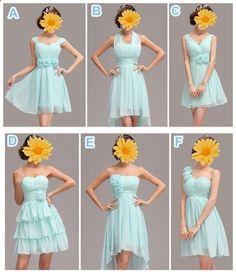 Color customizable bridesmaid dresses,bridesmaids dress short, chiffon bridesmaid dress,cheap bridesmaid dress custom,baby blue dress BN003...