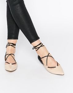Cross our hearts, we love these KG By Kurt Geiger Larissa Leather Flat Shoes.