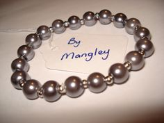 Glass Pearl Bracelet B123 £5 by Mangley Jewellery https://www.facebook.com/MangleyJewellery
