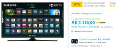 "Smart TV LED 48"" Samsung UN48J5300AGXZD Full HD 2 HDMI 2 USB Wi-Fi 120Hz << R$ 189900 >>"