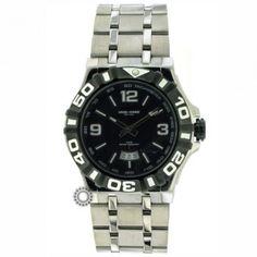 Ανδρικό sport ρολόι quartz ANGEL με μαύρο καντράν, ατσάλινο μπρασελέ, ημερομηνία & ασφάλεια στην κορώνα | Ρολόγια ANGEL ΤΣΑΛΔΑΡΗΣ στο Χαλάνδρι #angel #μαυρο #μπρασελε #ανδρικο #ρολοι Bracelet Watch, Watches, Bracelets, Accessories, Watch, Clocks, Clock, Bracelet, Arm Bracelets