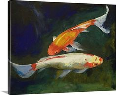 Koi Fish picture for client. Love colors