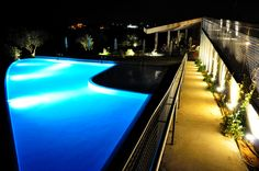 Swimming pool at night Pool At Night, 4 Star Hotels, Front Desk, Hotel Offers, Guest Room, Swimming Pools, Gallery, Wi Fi, Places