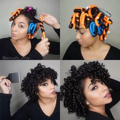 Heatless Curls using Flexi Rods!  Get the look Full tutorial is up on my channel! Link in the bio  #actuallyashly