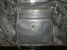 Authentic Giani Bernini Black Leather Crossbody. Starting at $18 on Tophatter.com!
