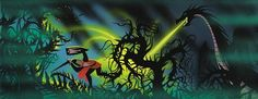 Never-Before-Seen Eyvind Earle 'Sleeping Beauty' Concept Art Headed to Auction