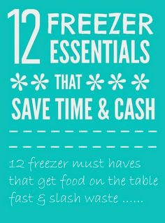 Mums make lists ...: Time Saving Freezer Essentials