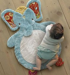 Perfect for your Baby and Nursery 51tbq88iV2L,Levtex Baby - Zahara Playmat - Elephant - Orange, Teal, Yellow, Red, Fuchsia - Nursery Accessories, LEVTEX BABY ZAHARA : A beautiful accessory for any baby nursery, the Zahara playmat is shaped like a elephant. Sized at 25 x 35in. this playmat is the perfect place for baby to spend some tummy time, hang out or just use as a beautiful accessory in...