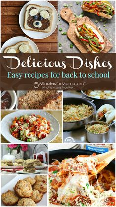 Delicious Dishes - Easy recipes for back to school