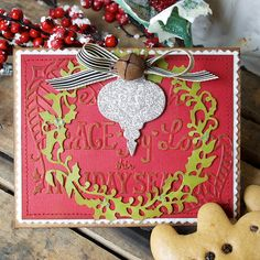 Handmade is always better! But don't feel like you have to rush around the holidays. Get started on your season's greeting cards now! Here's a little inspiration to get you into the spirit. These basic 'noel' shapes and Peace, Love, Joy embossing folder go together like hot and chocolate.