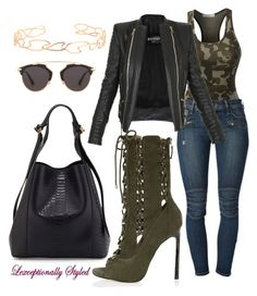 A fashion look from May 2016 featuring biker jackets, blue jeans and heeled ankle booties. Browse and shop related looks. Sexy Outfits, Classy Outfits, Stylish Outfits, Fashion Outfits, Dress Outfits, Fashion 101, Love Fashion, Autumn Fashion, Fashion Looks