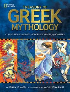 """""""Presents illustrated retellings of classic Greek myths, sharing the stories of Zeus, Aphrodite, Apollo, Athena, Helen of Troy, Perseus, and Medusa, with sidebars for each god, goddess, hero, and monster that link the tales to constellations, history, geography, and culture, and including profiles, a family tree, and other resources."""""""