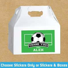 Items similar to Soccer Birthday Favor Boxes, Soccer Party Favor Stickers, Personalized Soccer Party Favors, Soccer Stickers, Custom Party Favors on Etsy Soccer Party Favors, Birthday Favors, Soccer Birthday, Rock Star Party, Gable Boxes, Party Treats, Favor Boxes, Personalized Gifts, Stickers