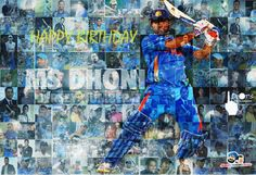 MSD fan... Dhoni Wallpapers, World Cricket, Chennai Super Kings, Test Cricket, Mumbai Indians, Best Player, Ms, Birthday, Inspiration
