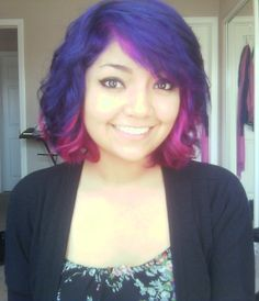Purple and pink hair! I think this is what I'm gonna go with...