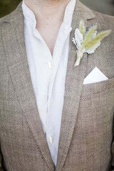 casual rustic groom attire but with a tie love this coat