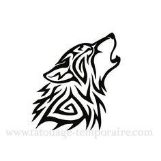 Pochoir Tatouage Temporaire Loup Plus