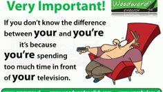 Your vs You're Cartoon