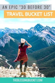 Epic 30 before 30 list for Travel Addicts - Which Adventures Have You Tried? - The Blessing Bucket