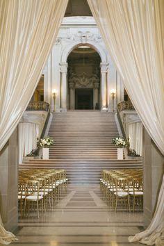 Photography : Caroline Tran Photography Read More on SMP: http://www.stylemepretty.com/2016/09/15/elegant-san-francisco-city-hall-wedding/