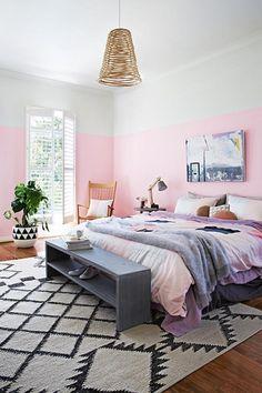 dormitorio rosa pastel