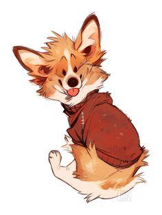 Cartoon Dog Drawing, Drawing Cartoon Characters, Character Drawing, Cute Dog Drawing, Drawing Cartoons, Cute Animal Drawings, Animal Sketches, Cute Drawings, Drawing Animals