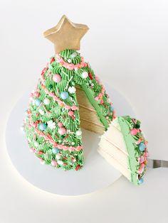 Christmas Cake Designs, Christmas Tree Cake, Christmas Sweets, Christmas Cooking, Holiday Baking, Christmas Desserts, Holiday Treats, Holiday Recipes, Xmas