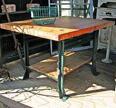 Metal & wood industrial table  - RMB
