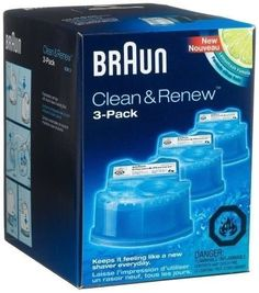 NEW Braun Series 3 5 7 CCR3 Shaver Clean  Renew Refills CONTAINS 3Pack Men * For more information, visit image link.-It is an affiliate link to Amazon.