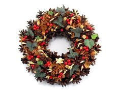 Christmas Wreath, Angel Wreath, Pinecone Wreath, Natural Wreath, Holiday Wreath, Rustic  Wreath,  Door Decor, Hand Made Christmas Wreath,