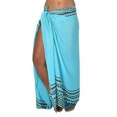 2dcc1d02144ec Coqueta Swimwear Chiffon Cover up Beach Sarong Pareo Canga Swimsuit Wrap  BLACK-O S at Amazon Women s Clothing store