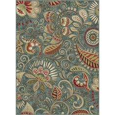 This Alise Caprice area rug enhances your decor with soft earthy hues and a whimsical design. Composed of polypropylene fibers, the rug is easy to clean and stands up to heavy foot traffic. The paisle