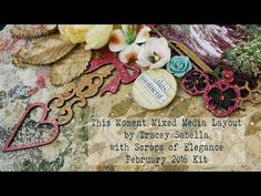"""Scraps of Elegance February 2016 Kit DIY Mixed """"This Moment"""" Layout - Blue Fern Studios, Serendipity - YouTube"""
