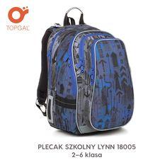 6608a290ee244 Niebieski w strzałki uniwersalny plecak dla uczniów od 2 do 6 klasy. Marka  Topgal