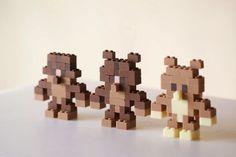 Los precisos, dulces y funcionales ladrillos Lego de chocolate de Akihiro Mizuuchi