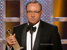 Kevin Spacey Wins the Golden Globe for Best Actor in a TV Series, Drama; Golden Globes Winners | Marketing, Business