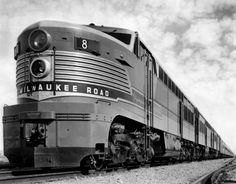 """The streamlined Olympian Hiawatha operated from 1947 to 1961 and was one of several Milwaukee Road trains to carry the name """"Hiawatha."""""""